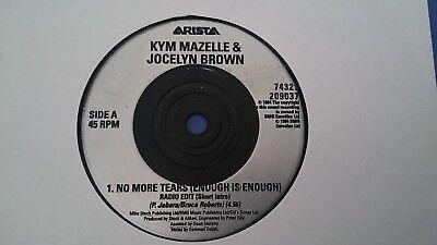 KYM MAZELLE & JOCELYN BROWN - NO MORE TEARS (ENOUGH IS ENOUGH) VINYL SINGLE