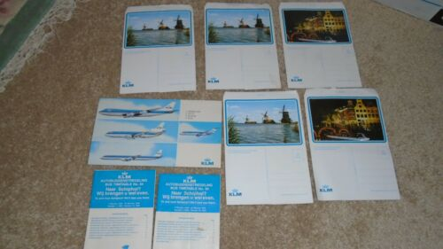 1977 KLM Airlines Advertising Bus Schedule 747 Mailing Envelopes Aircraft 1976