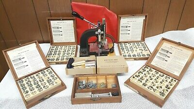 Kingsley Hot Foil Stamping Embossing Machine 4 Font Boxes  Accessories