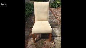 Microsuede dining chairs - set of 8 $30 each Naremburn Willoughby Area Preview