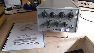 Krohn Hite 3340 Variable Bandpass Filter, With Manuals.