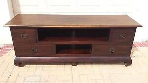 BALINESE TV CABINET, SOLID TIMBER, GC! Greenslopes Brisbane South West Preview