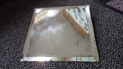 Antique 1898 Frameless Distressed Small Mirror Panel Stamped Sep 3 1898 Mon AL