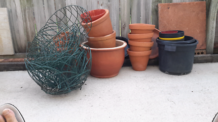 Various pots and baskets
