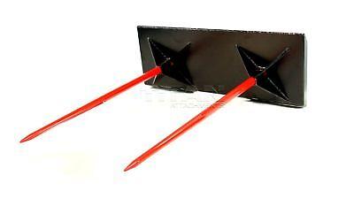 Titan Dual 43 Hay Bale Spear Spike Skid Steer Skidsteer Case Kubota 3000 Cap