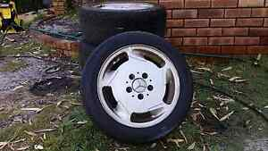 Mercedes Benz alloy wheels with tyres Thornlie Gosnells Area Preview