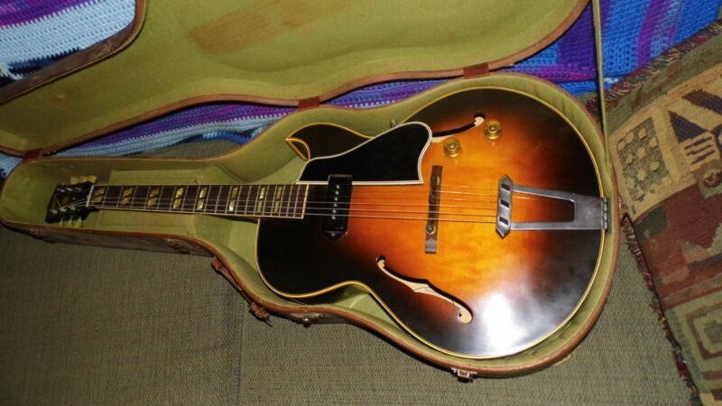 1953 Gibson A- ES-175  electric arch box guitar. with p-90 pickup