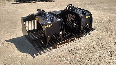 New 84 Rock Skeleton Bucket With Grapples. 48 Opening Gr 50 Steel Skid Steer