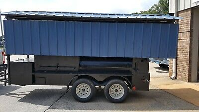 Perfect Draft Pro Mini T Rex Roof Bbq Smoker 36 Grill Trailer Mobile Food Truck