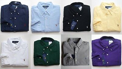 Men Polo Ralph Lauren Oxford Shirt Long Sleeve All Sizes - CLASSIC FIT - NWT