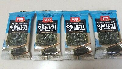 Roasted Laver,Seaweed Laver,Nori,Kim,Gim 4Pack*8sheets YANGBAN Korean Food.