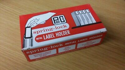 Spring-lock Metal Label Holder 1 Rare Color Of Red Panco Panter Company New