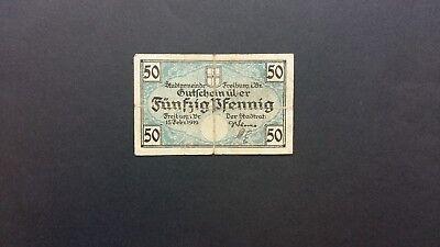Rupertus 52.8a Notgeldschein Stadt Freiburg i.Br. 50 Pfg 15.2.1919 Ser.D