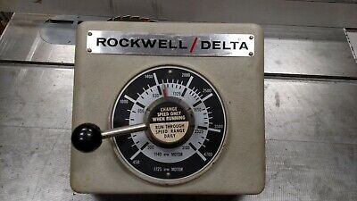 Rockwell Delta 15-655 Drill Press Front Head Casting With Speed Control
