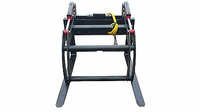 Skid Steer Double Cylinder Pallet Fork Grapple Quick Attach Free Shipping