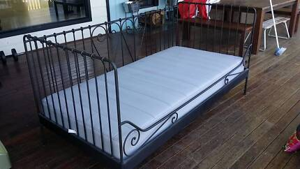 IKEA Day Bed Black with single mattress * Far Pavillion Cushions Luscombe Gold Coast North Preview