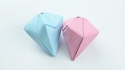 Origami Diamond Paper Handmade Beautiful