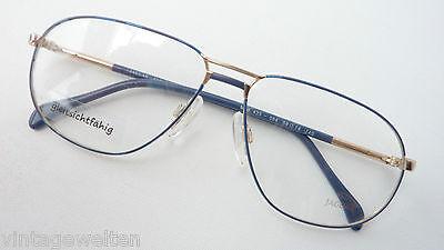 Jaguar Brille für Männer sportlich blau gold Doppelsteg große Gläser Größe M