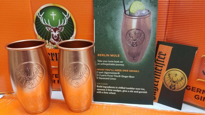 2 Jagermeister Copper Glasses