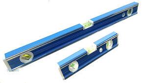 Spirit-Level-Ribbed-12-30cm-Or-24-60cm-Aluminium-Ruler-Builders-Milled-Face