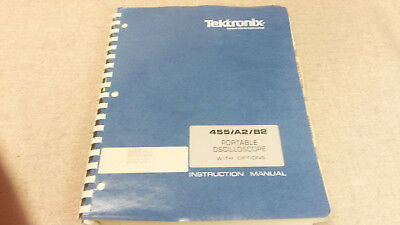 Tektronix 455 A2b2 Oscilloscope Service And Operating Manual