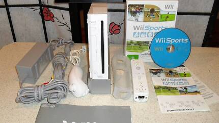 Wii Game Set - Complete with acessories and Wii Sports Game.