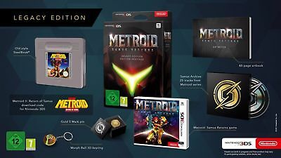 Metroid Samus Returns Legacy Limited Edition New English Nintendo 3Ds Steelbook