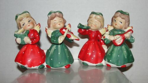 PR. VINTAGE CHRISTMAS ANGEL CANDLESTICKS - UNMARKED