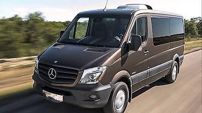 Autositzbezug maßgefertigt im Design TRENDLINE Mercedes Sprinter II in BLAU.
