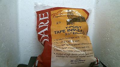 Dare 2340-25w T-post Tape Insulator Free Shipping