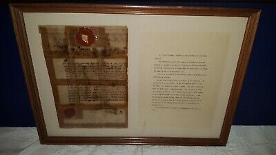 Antique 1700's Louisiana Infantry Colonel Pedro Piernas Signed Passport Document