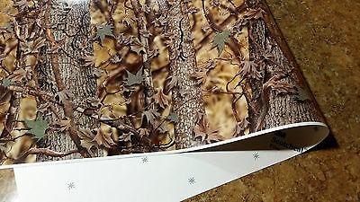 "3 HUNTER CAMOUFLAGE TRUCK WRAP VINYL DECAL 48""x15"" 3M CAMO TREE PRINT DUCK CAMO"