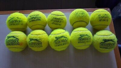 10 Slazenger USED TENNIS BALLS FOR YOUR DOGS to play
