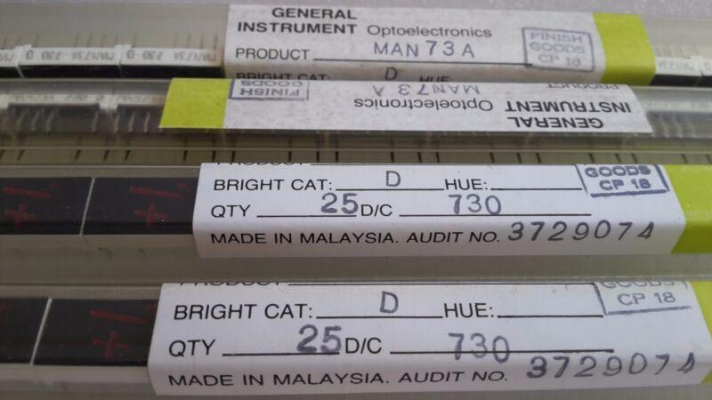 MAN73A  Qty=1  GI 7-Segment  GaAsP 0.3-lnch Common anode  ±1  RED  LED Display