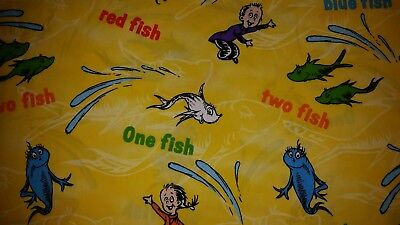 LINED VALANCE 62X11 DR SEUSS CAT IN THE HAT STORY BOOK MOVIE ONE FISH TWO FISH