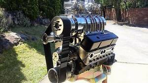 BLOWN NEW 383 SUPERCHARGED 8/71 SBC CHEV STREET STRIP ENGINE HQ Menai Sutherland Area Preview