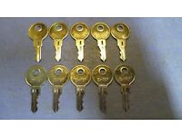 16 Keys Push Locks Cabinets Southco CH751 Keys for RV Campers
