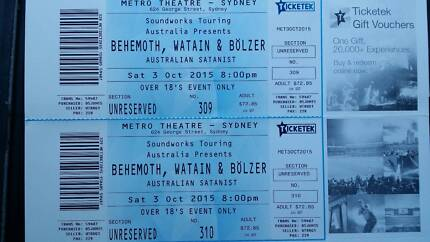 Behemoth, Watain Tickets Springwood Blue Mountains Preview