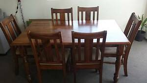 Wooden dining table with 6 chairs Coogee Eastern Suburbs Preview