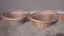 2 rustic cane laundry baskets Burwood Burwood Area Preview
