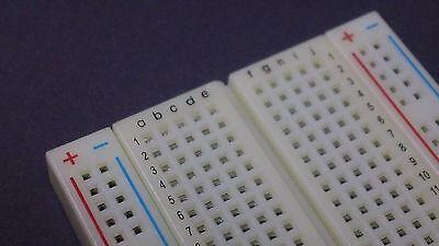 Solderless Breadboard 400 Contact Points School Electronics Supply Diy Kits