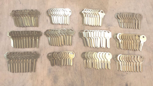 Locksmith-120-Key-Blank-Starter set-Variety Pack-10 each of 12 common blanks-Lot