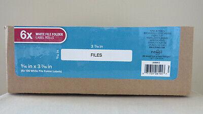 Genuine Dymo 30327 White File Folder Labels 916 X 3 716