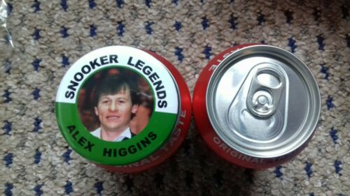 ALEX HIGGINS  SNOOKER LEGEND  BADGE   55MM  IN SIZE