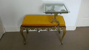 Statement gold and glass telephone table Chatswood Willoughby Area Preview
