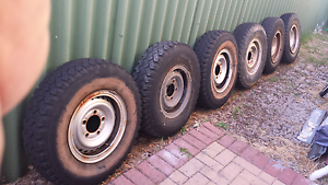 6 x 7.50 r 16 Tires and split rims 5 studs Landcruiser 100 Carlisle Victoria Park Area Preview