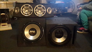 Car speakers and woofers work great $130 lot Little Mountain Caloundra Area Preview