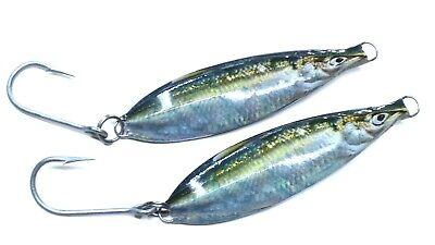 8oz flat fall slow pitch Tuna Striper lure wire through fishing jig