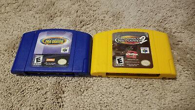 Tony Hawk Pro Skater 1 & 2 carts only Nintendo 64
