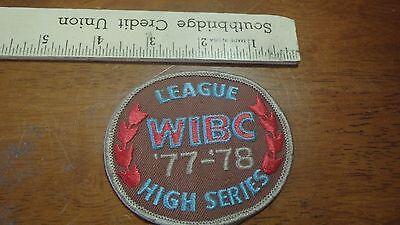 Vintage Wibc League High Series 1978 Bowling Patch Bx12 1